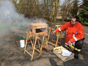 Veränderung der Strömung bewirkt eine Veränderung in der Brandentwicklung