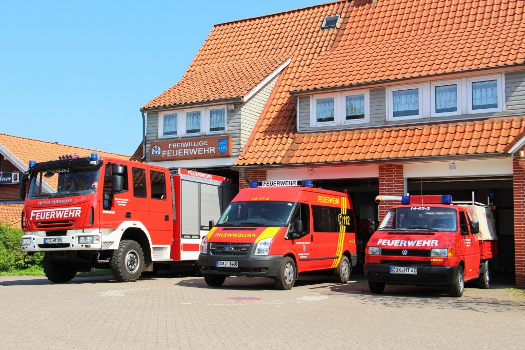 Feuerwehrhaus Hechthausen im April 2014